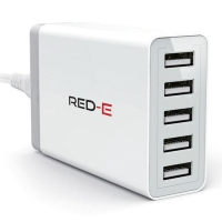 Red-E Hub 5 Port USB 6 AMP White