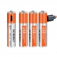 Sorbo USB Rechargeable AAA Battery 4 Pack + Cables