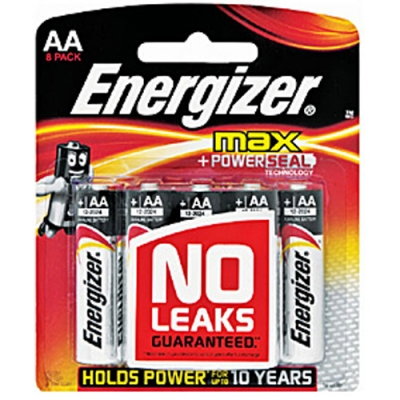 Energizer Max AA 8 Pack Alkaline