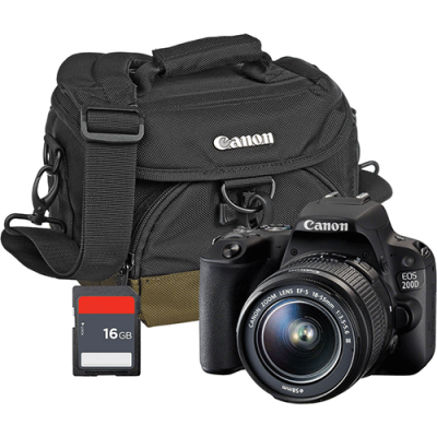 CANON EOS 200D + EF-S 18-55 F3.5-5.6  III  + BAG + CARD – GETTING STARTED KIT