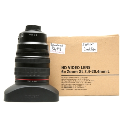 Canon HD Video Lens 6x zoom xl ..4-20.4mm L for XL H1  Second Hand