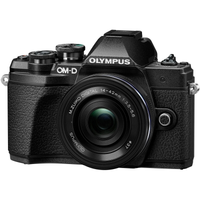 Olympus OM-D E-M10 Mark III Mirrorless Micro Four Thirds Digital Camera with 14-42mm EZ Lens Black