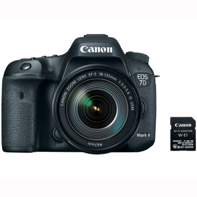 Canon EOS 7D Mark II + 18-135mm f/3.5-5.6 IS USM Lens & W-E1 Wi-Fi Adapter