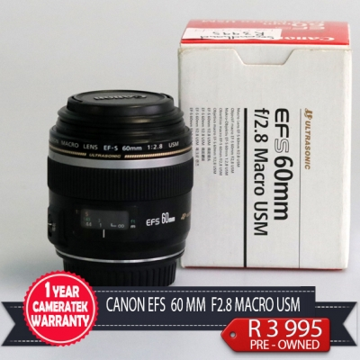 Canon EF-S 60mm f/2.8 Macro USM Lens Second Hand