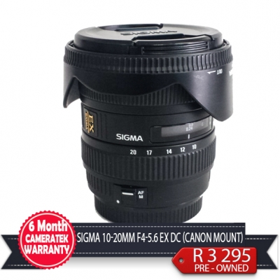 Sigma 10-20mm f4-5.6 EX DC Canon mount  Second Hand