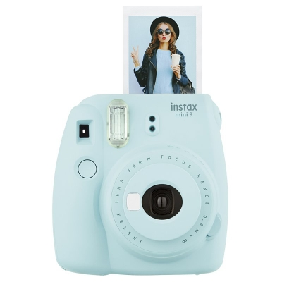 Fujifilm Instax Mini 9 Instant Film Camera Kit Ice Blue