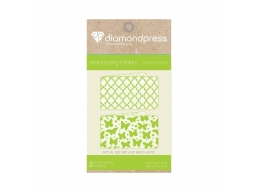 Diamond Press, Embossing Folder Butterfly & Lattice