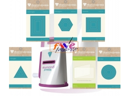 Diamond Press Die-Cutting & Embossing Machine & Shape Die Kit Bundle 2.