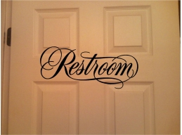 Restroom Sign Wall Stic..