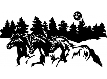 Horses Border Horse Trailer Truck RV Camper Decal Stickers X -  horse graphics for trucks