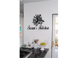 Personalized Kitchen Sign Wall Sticker Wall Art Vinyl Decals Kitchen Decor