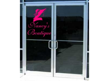Boutique Salon Clothing Business Sign Vinyl Decal Sticker Sign Window Door Glass