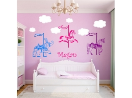 Carousels & Personalized Name Wall Stickers