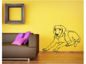 Labrador Retriever Breed Dog Wall Sticker Wall Art Decor Vinyl Decal Murals