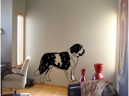 St Bernard Dog Breed Wall Sticker Vinyl Decal Stickers Wall Art Murals Decor