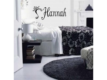 Teen Personalized Name & Flourish Wall Sticker Wall Art Decor Lettering