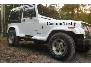 Your custom text hood window decal sticker truck jeep for Custom jeep lettering