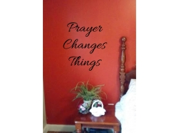 Prayer Changes Things Wall Sticker