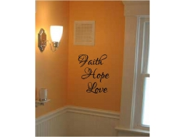 Faith Hope & Love Wall Stickers 3 piece