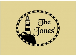 Lighthouse and Personalized Family Name Sign Wall Sticker Wall Art Decor Vinyl