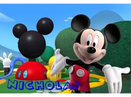 Mickey Mouse Clubhouse & Personalized Name Color Print Sticker Mural