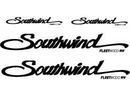 Fleetwood Southwind 4 pc Camper RV Vinyl Decal Sticker Camper Graphics Stickers