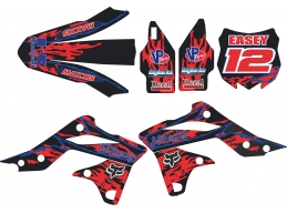 2012-2016 kxf 450 Graphic Kit With Name And Number