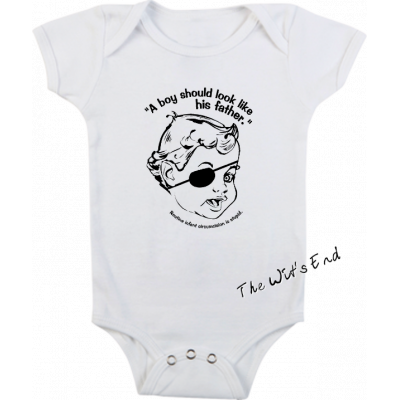 A Boy Should Look Like His Father intact friendly onesie