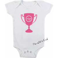 Winner Swimmer trophy onesie