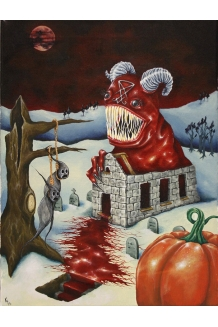 Kristen Ferrell - The Lonely Stull Devil - Original Painting