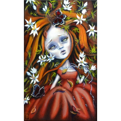 Terri Woodward - Autumn´s Last Bloom - Original Painting