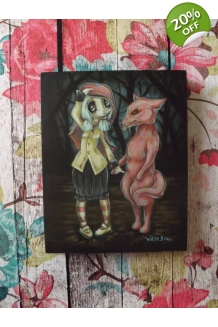 Terra Bidlespacher - I Saw the Wolf - Original Painting