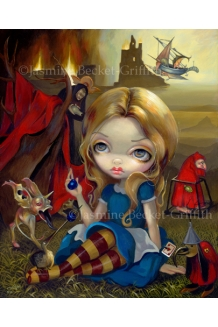 Jasmine Becket-Griffit - Alice and the Bosch Monsters - LE Canvas Print