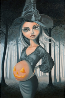 Carla Secco - Creepy Awayting - Original Painting