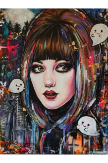 Brittany Hanks - Graveyard Girl - Original Painting