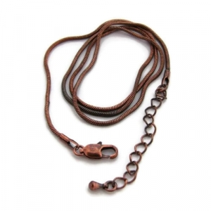 18 Inches 45cm Copper Snake Chain Necklace with extender chain
