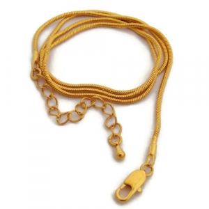 18 Inches 45cm Gold Snake Chain Necklace with extender chain