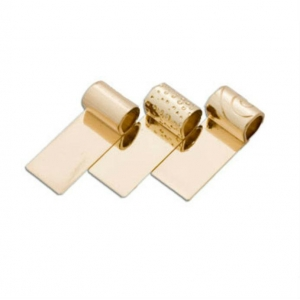 3 x Gold Plated Tube Ba..
