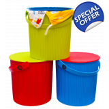 Nappy Laundry Bucket with Lid - 10 Litre