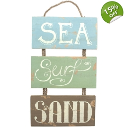 SEA, SURF & SAND WALL PLAQUE