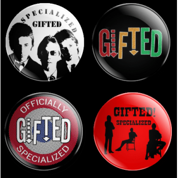 Specialized 'Gifted' Gift Set 38mm badge