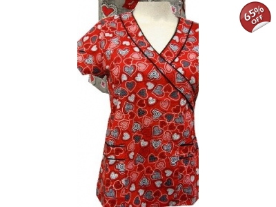 Red Heart Flex Stretch Scrub Top