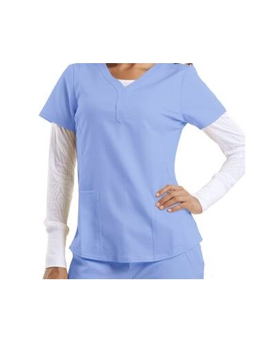 Purple Label Classic Scrub Top By Healing Hands