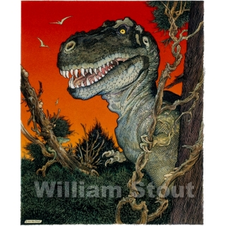 William Stout's RED REX Art Print