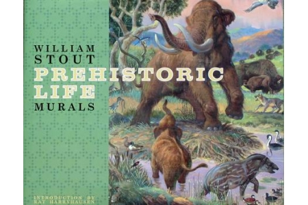 """PREHISTORIC LIFE MURALS"" signed hardbound book by William Stout."