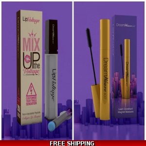 Lip Voltage MIX IT UP PLUMP IT UP & Dreamweave Lash Construct Mascara