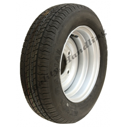 155 70 R12C trailer wheel & tyre - 5 Stud 900kg heavy duty