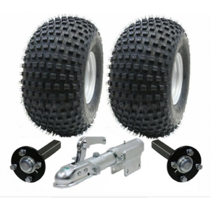 ATV trailer kit - Wanda wheels+hub & stub+swivel hitch,310kg