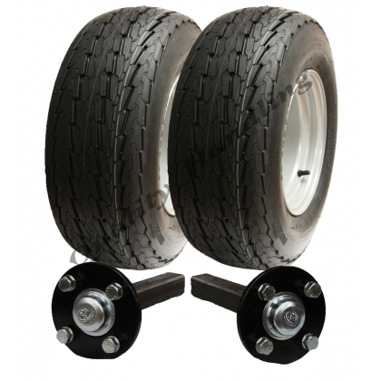 High speed trailer kit 20.5 x 8-10 road legal wheels+hub & stub axle