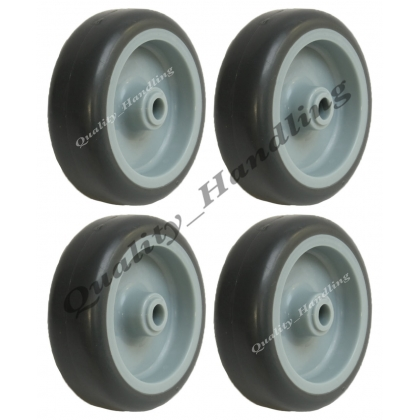 "4 - 75mm 3"" grey rubber non marking wheels"